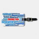 Defensa crónica del dolor etiqueta para equipaje