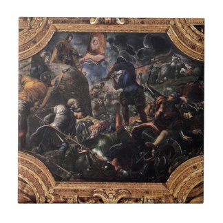 Defensa de Brescia por Tintoretto Azulejo Cuadrado Pequeño
