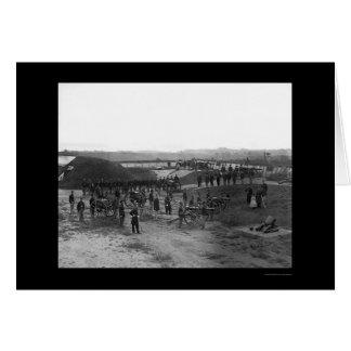 Defensa de la artillería de Washington, DC 1862 Tarjeta De Felicitación