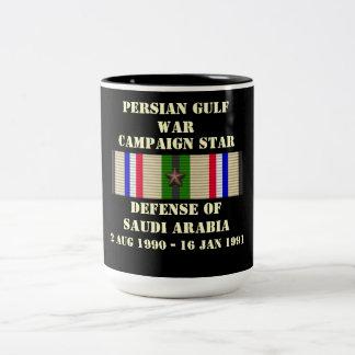 Defensa de la campaña de la Arabia Saudita Tazas De Café