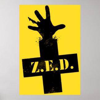 Defensa de la emergencia del zombi - ZONA SEGURA Impresiones