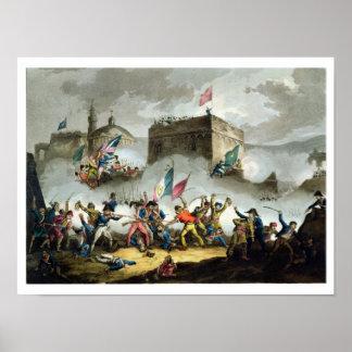 Defensa de la infracción en el d'Acre del St. Jean Poster