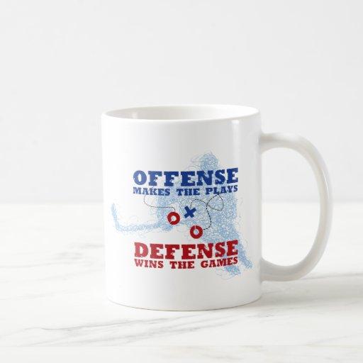 Defensa de la ofensa taza básica blanca