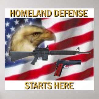 Defensa de la patria póster