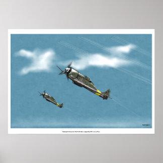 Defensa de la subida del poder del Reich Fw190 Póster