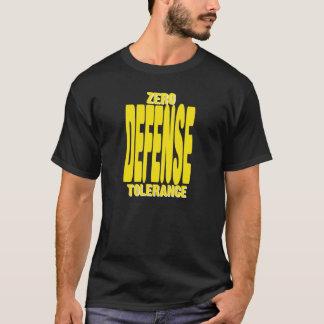 Defensa de la tolerancia cero en camiseta negra