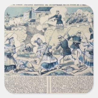 Defensa de Tuyen Quang, el 14 de febrero de 1885 Pegatinas Cuadradas