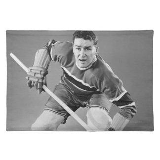 Defensa del hockey manteles individuales