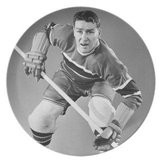 Defensa del hockey platos