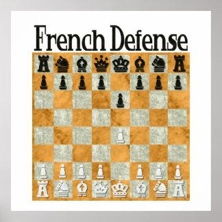 Defensa francesa póster