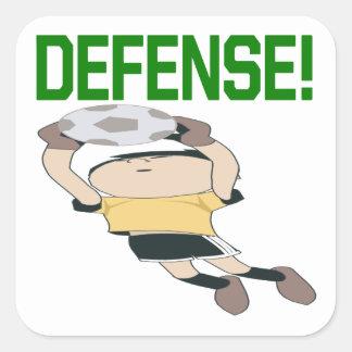 Defensa Pegatina Cuadrada