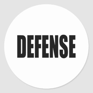 Defensa Pegatina Redonda