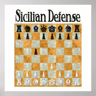 Defensa siciliana póster