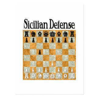 Defensa siciliana postales