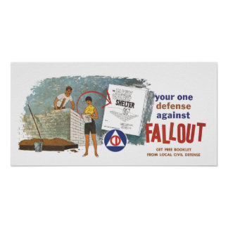 Defense against Fallout Civil Defense Poster