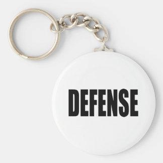Defense Basic Round Button Keychain