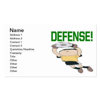 Defense Double-Sided Standard Business Cards (Pack Of 100)