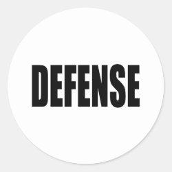 Defense Classic Round Sticker