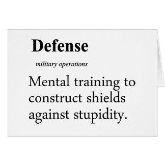 Defense Definition Card