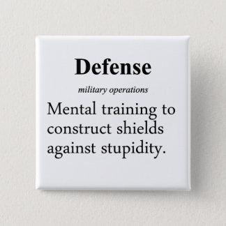Defense Definition Pinback Button