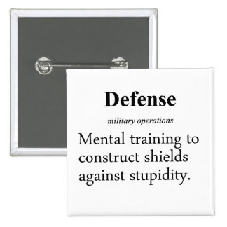 Defense Definition Pinback Button