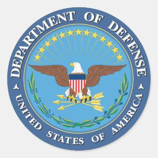 Defense Department Classic Round Sticker