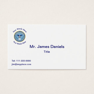 Defense Finance Accounting Services DFAS Business Card