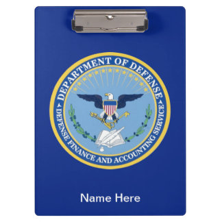 Defense Finance Accounting Services Seal. Clipboard