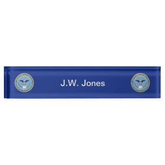Defense Finance Accounting Services Seal. Desk Name Plate