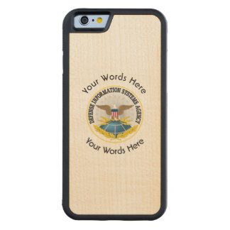 Defense Information Services Agency DISA Carved Maple iPhone 6 Bumper Case