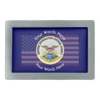 Defense Information Services Agency DISA Rectangular Belt Buckle