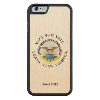 Defense Information Systems Agency (DISA) VVV Carved Maple iPhone 6 Bumper Case