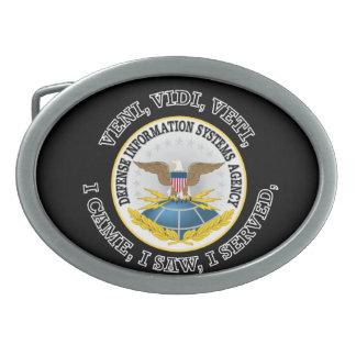 Defense Information Systems Agency (DISA) VVV Oval Belt Buckle