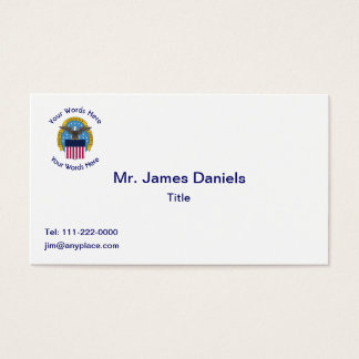 Defense Intelligence Agency DIA Shield Business Card