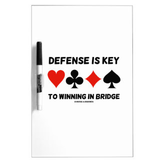 Defense Is Key To Winning In Bridge (Card Suits) Dry-Erase Board