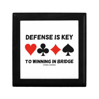 Defense Is Key To Winning In Bridge (Card Suits) Gift Box