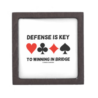 Defense Is Key To Winning In Bridge (Card Suits) Jewelry Box