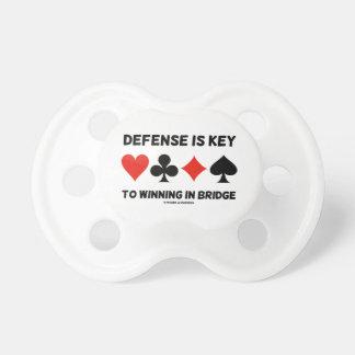 Defense Is Key To Winning In Bridge (Card Suits) Pacifier