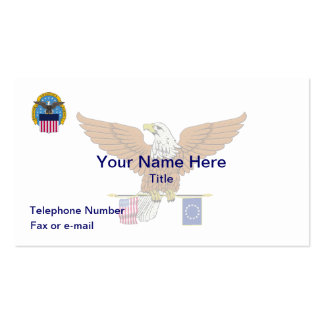 Defense Logistics Agency Eagle Business Card