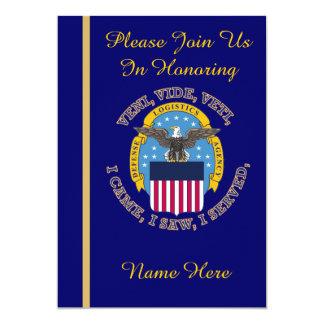 "Defense Logistics Agency Retirement Invitation 5"" X 7"" Invitation Card"