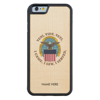 Defense Logistics Agency Shield Carved® Maple iPhone 6 Bumper