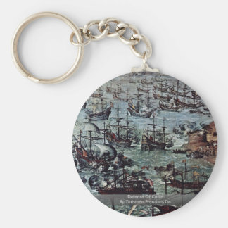 Defense Of Cádiz  By Zurbarán Francisco De Keychain