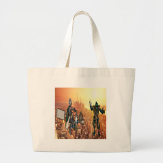 Defense of Planet Earth Large Tote Bag