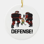 Defense Double-Sided Ceramic Round Christmas Ornament