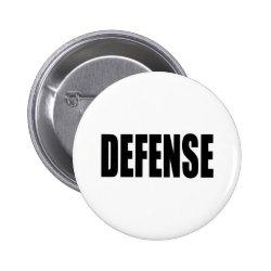Defense Pinback Button