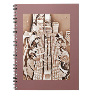Defense Plant Assembly Line Notebook