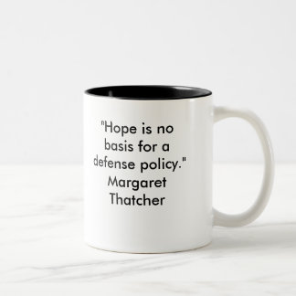 Defense Policy Two-Tone Mug