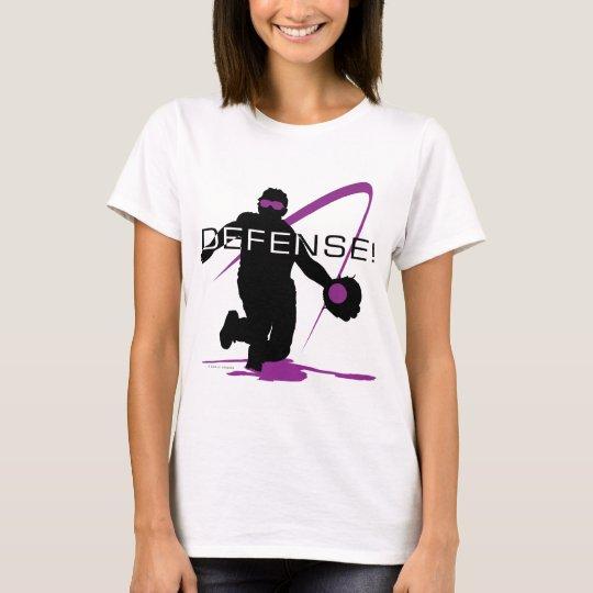 Defense Purple Softball T-Shirt