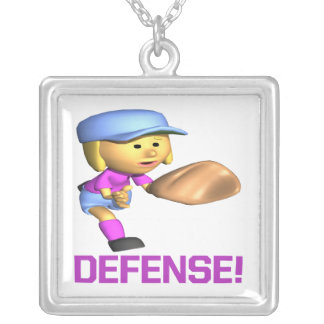 Defense Silver Plated Necklace