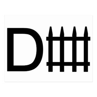 Defense symbol postcard